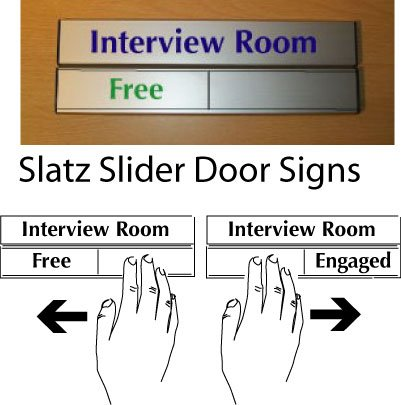 Door Slider Signs